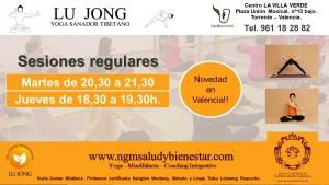 Sesiones Regulares Yoga Tibetano Lu Jong Valencia. NGM Salud y Bienestar. Nuria Gomar Mirallave. Profesora Certificada Yoga Lu Jong.