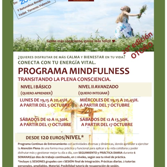 20ª Edición Programa Mindfulness.