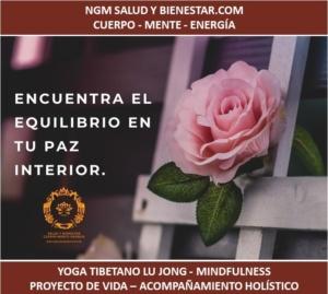 Nuria Gomar Mirallave. NGM Salud y Bienestar. Cuerpo. Mente. Energía. Yoga Lu Jong. Mindfulness Transpersonal. Acompañamiento Holístico.