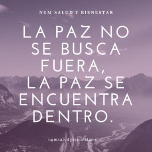 Blog NGM Salud y Bienestar. Nuria Gomar Mirallave. Paz.